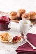 Delicious madeleine breakfast