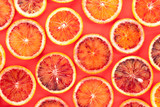 Sliced blood oranges pattern