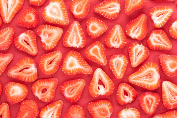 Sliced strawberries pattern