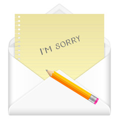 envelope sorry