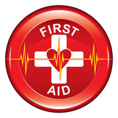 First Aid Heart Health Button