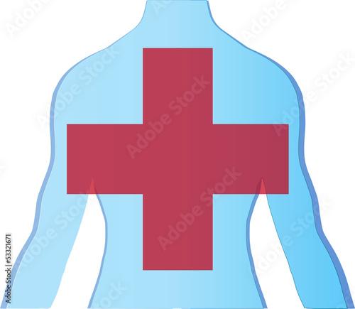Medizin Hintergrund mit kreuz