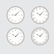 Set of gray clocks.