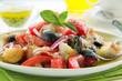 bowl of Panzanella bread salad