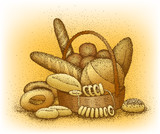 Bakery products hand-drawn illustration