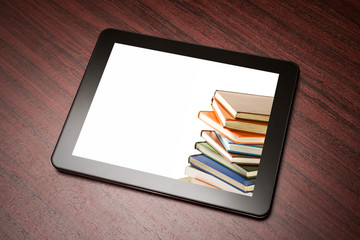 Tablet with book