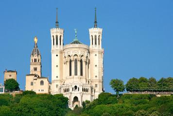 Basilika Notre-Dame-de-Fourvière, Lyon / Frankreich