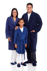 indian family wearing nightclothes