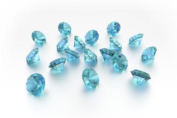 3D Topaz - 18 Blue Gems