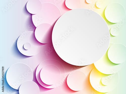 Rainbow Circles Abstract Background