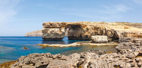 Azure Window, stone arch of Gozo, Malta