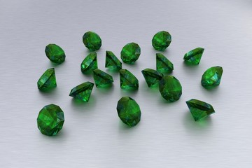 3D Emerald - 18 Green Gems