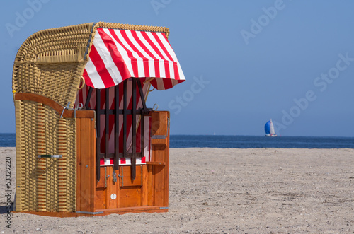 canvas print picture beach chair