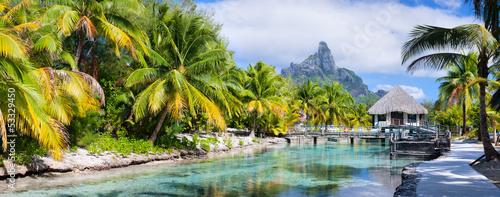 Poster Oceanië Bora Bora panorama