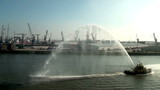 Tug boat splashing water - Rotterdam - The Netherlands