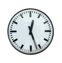 Isolation Of Grungy Station Clock With Clipping Path