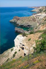 Spring view of Black Sea coast