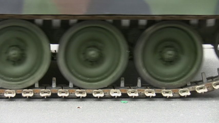 Continuous tracks of tank