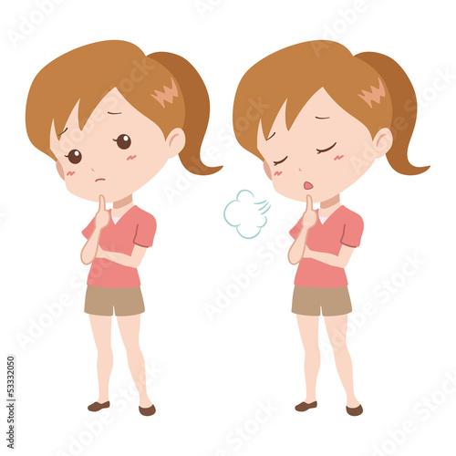 女の子/ため息