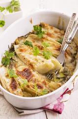 Chicoree mit Käse überbacken