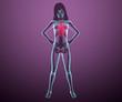 Corpo umano donna spina dorsale torace ai raggi x