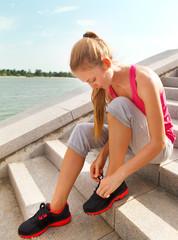 Sport fitness runner woman