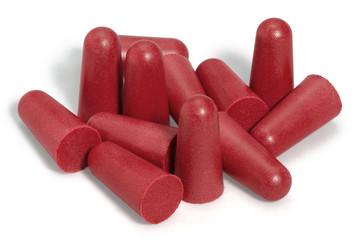 red earplugs