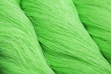 Rolls of green polyester rope - close up poster