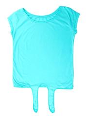 Female t-shirt isolated on white