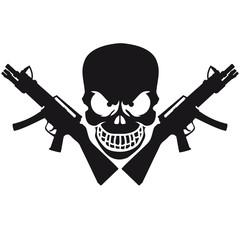 Assault Rifle Gun Skull