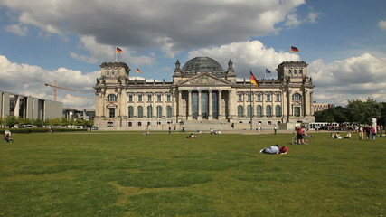 Park in front of Reichstag, Berlin