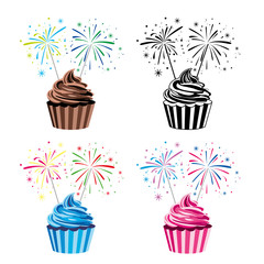 vector collection of cupcakes