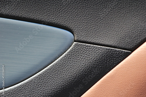 texture of artificial leather car interior - 53336054