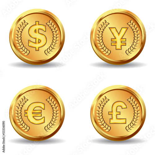 gold currency coin