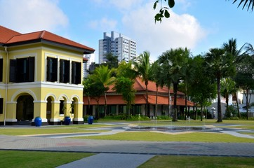 Malay Heritage Centre and fountain, Kampong Glam Singapore