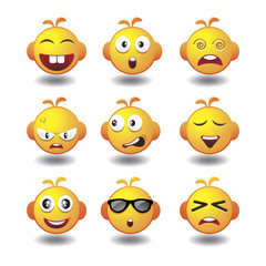 vector set of emoticons
