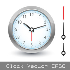 Clock vector with arms