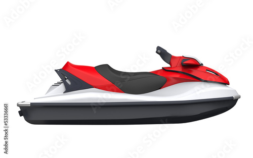 Canvas Water Motorsp. Jet Ski Isolated on White Background
