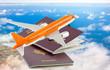 concept vacances, avion sur passeports