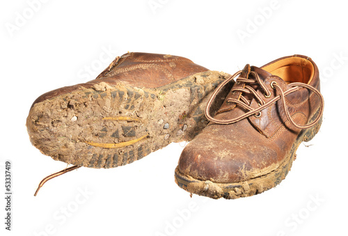 Very muddy Brown shoes