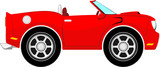 red convertible car cartoon