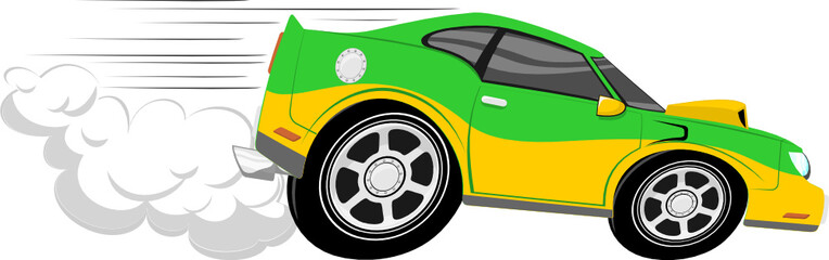 race car cartoon