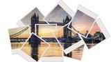 tower bridge at sunrise polaroid collage - 53338070