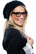 Vivacious woman in a black beret