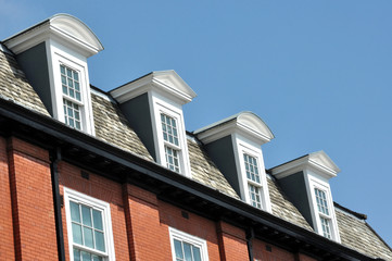 Dormer Windows In Old Building