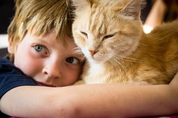 enfant et chat