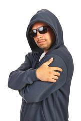 Rapper male posing