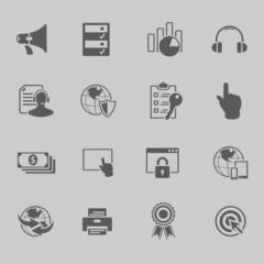 web technology icon set vector illustration