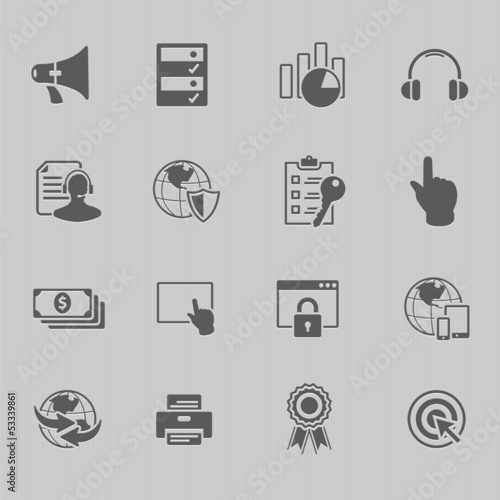 web technology icon set vector illustration