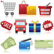 Set of shopping, e-commerce and business icons